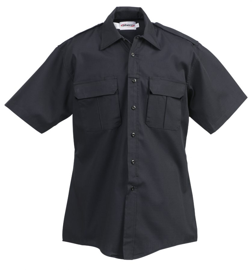 Elbeco ADU Ripstop Short Sleeve Shirt - Navy