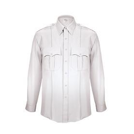 Class A Elbeco TexTrop2 Long Sleeve Zippered Front Shirt - White